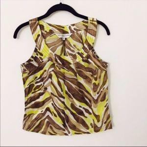 Trina Turk abstract blouse
